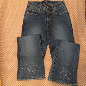 Vintage high waisted Bebe jean with crystals!